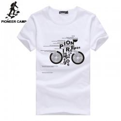 Pioneer Camp 2017 t shirt men cotton summer white black o-neck male tshirts fashion print pattern brands t-shirt  mens