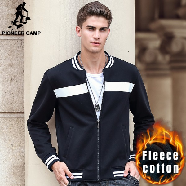 Pioneer Camp Brand sweatshirts men quality 100% cotton autumn winter thick fleece warm hoodies men casual male hoodies 699038