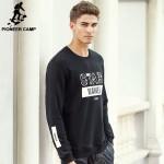 Pioneer Camp NEW 2016 men famous brand hoodies men Fashion brand clothing top quality men's Hoodies Sweatshirts red black 611903