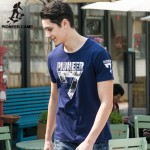 Pioneer Camp New Arrival Summer Men T-shrit Short Sleeve Cotton Tops O-neck Male Tee Plus Size for Big and Tall Dark Blue 655007