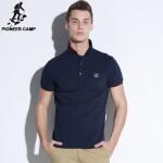 Pioneer Camp New Polo Shirt Men Mesh Mens Polo Shirt Man Short Sleeve Solid Polo Shirt Male Polo Shirts Brand Clothing 505111