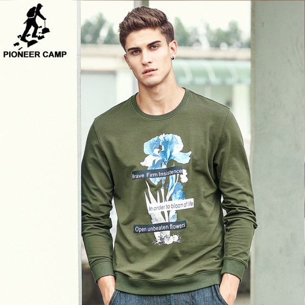 Pioneer Camp New arrival Hoodies Men Band clothing Hip Hop Mens Streetwear Printed New Street  male Sweatshirt 611900