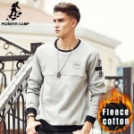 Pioneer Camp New arrival thick warm hoodies men brand clothing autumn winter sweatshirts male top quality men hoodies 699035