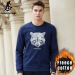 Pioneer Camp autumn winter fleece thick men hoodies sweatshirt top quality brand hoodies men casual male warm sweatshirt 677209
