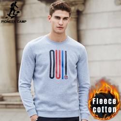 Pioneer Camp autumn winter thick sweatshirts men brand clothing warm male hoodies top quality fashion causal men hoodies 699111