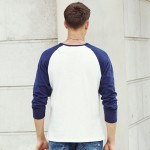 Pioneer Camp brand clothing T shirts men 2017 New Arrival Autumn T-shirt Men patchwork Crew Neck Long Sleeve male tshirt 699001