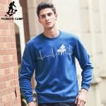 Pioneer Camp brand hoodies men autumn winter male black blue sweatshirts casual comfort men hoodies Wuyou