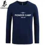 Pioneer Camp t-shirt men brand clothing new fashion 2017 men t shirt long sleeve cotton elastic slim casual shirts men clothes