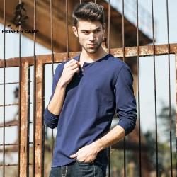 Pioneer Camp.Free shipping!2017 new fashion mens t shirt long sleeve streetwear fitness t-shirt men   bodybuilding