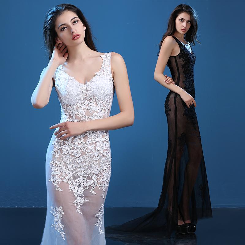 Plus Size 10 Color Lace Long Dress Nightclub Dresses Clairvoyant ...