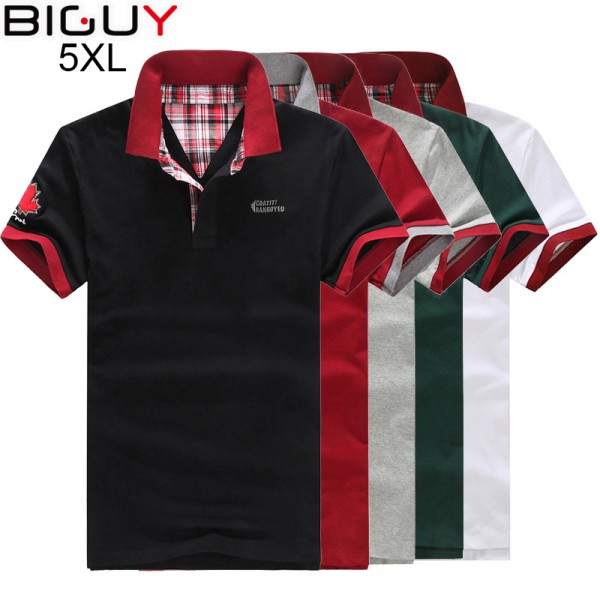 sold worldwide buy sale united states Plus Size 3xl 4xl 5xl Men Polo Shirt Short Sleeve Fashion Cheap ...