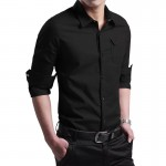 Plus Size M-4XL spring summer men's Oxford cotton long-sleeved shirt Slim fit military uniform style men Casual shirts