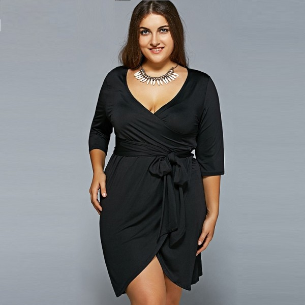 Plus Size Women Clothing Summer Dress Big Size 2017 Casual Bandage ...