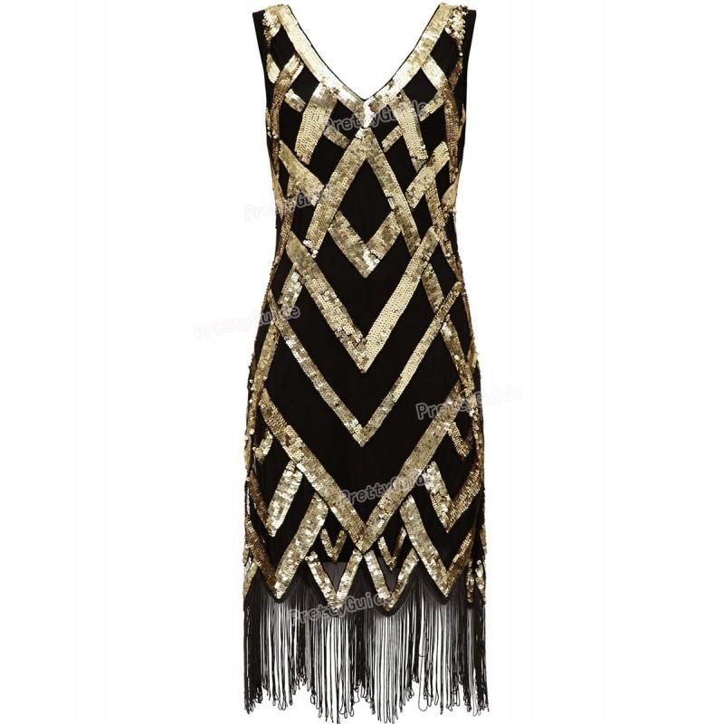 PrettyGuide Women 1920\'s Vintage Beads Sequin Crisscross ...