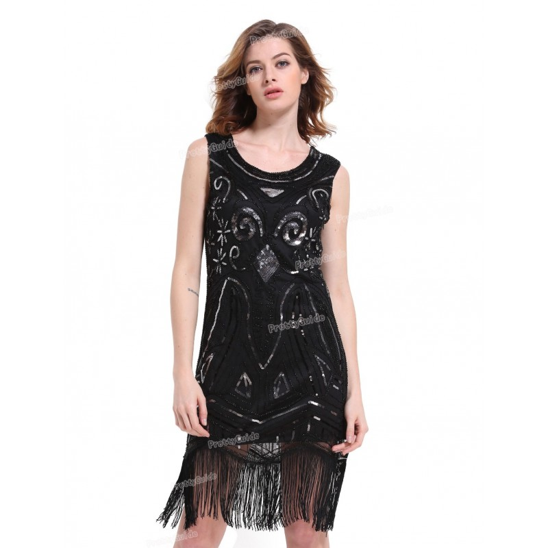 630eb554 PrettyGuide Women 1920s Great Gatsby Inspired Vintage Beads Sequin Art Deco  Paisley Flapper Party Dress