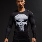 Punisher 3D Printed T-shirts Men Compression Shirts Long Sleeve Cosplay Costume crossfit fitness Clothing Tops Male Black Friday