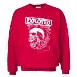 Punk Rock The Exploited Swag Skull men sweatshirt autumn winter 2016 new fashion hoodies cool streetwear hip hop  clothing