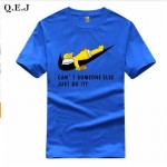 Q.E.J 2016 New Letter Print T Shirt Mens Black And White Comic Con Cosplay T-shirts Summer Skateboard Tee Boy Skate Tshirt Tops