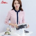 Qiqi Spring Summer Turn-down Collar Chiffon Blouse Women Long Sleeve Blouse Female Office Work Wear Shirts Tops Plus Size Blusas