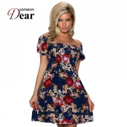 RB70029 Unique design sexy print dress 2017 new summer style casual plus size dress with four colors beautiful beach dress