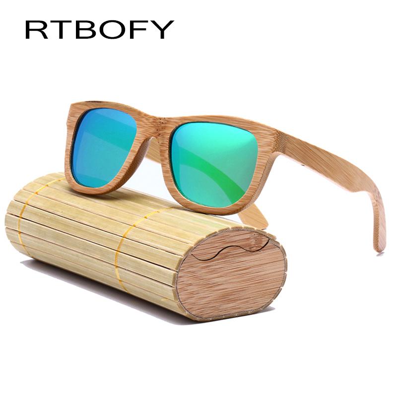 3114bd9af9 RTBOFY Sunglasses Wood Women Bamboo Sun Glasses Brand Designer UV400  Polarized Lense Shades Sunglasses -RB-03