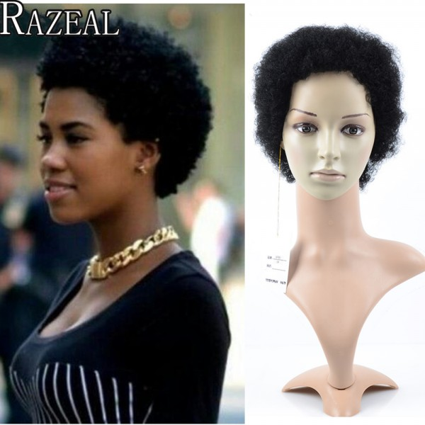Razeal Cheap Afro Kinky Curly Perruque Short