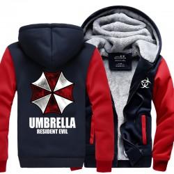Resident Evil Umbrella Hoodies 2016 winter new warm fleece Anime umbrella men sweatshirts high quality men jacket for fans M-4XL