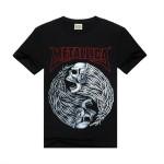 Rocksir 2017 new T Shirt Men Rock design short sleeve black Skull Printed Metallica Band Clothing mens rock t shirts fashion