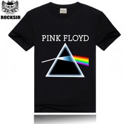 Rocksir Brand Pink Floyd Rock Band T-shirt Men Quality Cotton Tops Men`s T-shirt M-XXXL Black Short Sleeve Tee Shirts ST12