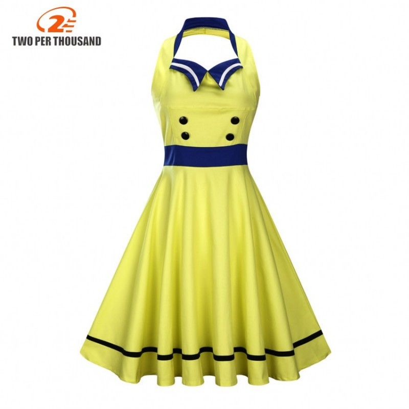 66ffee82f03fb S-3XL Women Robe Pin Up Dress Retro 2017 Vintage 50s 60s Rockabilly Swing  Sleeveless Summer ...