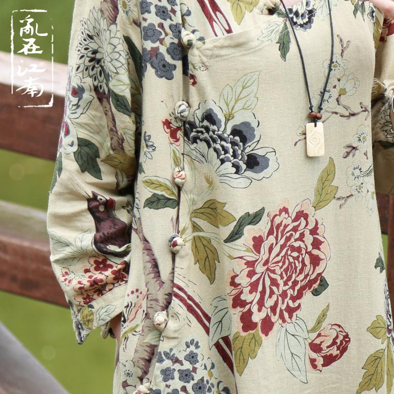 Vestidos 2017 Spring Autumn Women Dress Chinese Robes Vintage ...