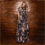 S.FLAOR Brand Women chiffon thin dress 2017 women Summer fashion long dress V-Neck Floor-Length sexy vestidos new fashion style