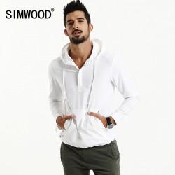 SIMWOOD 2017 Spring New Hoodies Men  off white  Fashion sweatshirt hip hop Plus size jacket WJ1666
