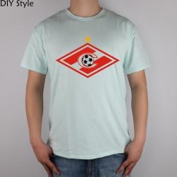 SPARTAK MOSCOW T-shirt Top Lycra Cotton Men T shirt New Design High Quality Digital Inkjet Printing
