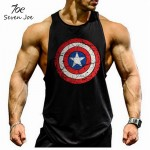 Seven Joe. musculation vest bodybuilding clothing and fitness men undershirt solid tank tops  blank golds men undershirt