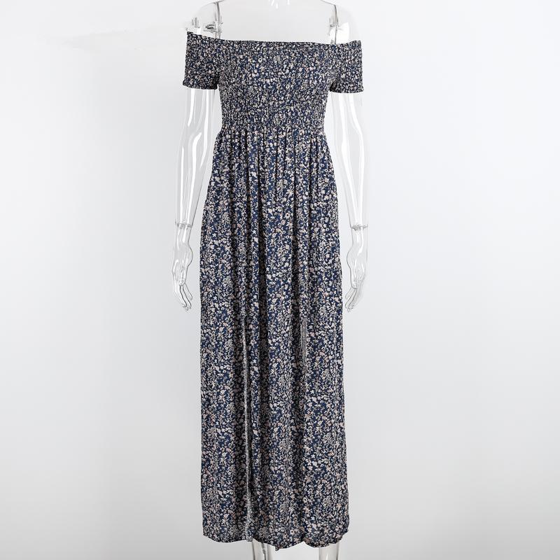 1a4ae521632 Sexy strapless beach summer dress sundresses Vintage tunika maxi dress Boho  floral women split long dress ...