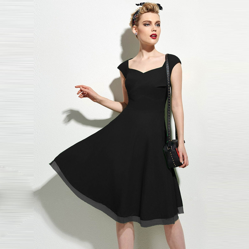 7d81bcccdb777 Sisjuly vintage dress summer black sexy retro red dress v neck ...