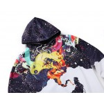 Smoking Old Man Sweatshirts Mens Casual Autumn Outwear Tie Dye Hoodie Colorful Smog Galaxy Sweatshirt  Contrast Color Clothes