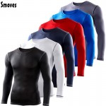 Smoves S-XXL Men's Compression Body Base Layer Under Top Long Sleeve T-Shirts Tops Skins Gear Cool Dry New 2017 Free Shipping