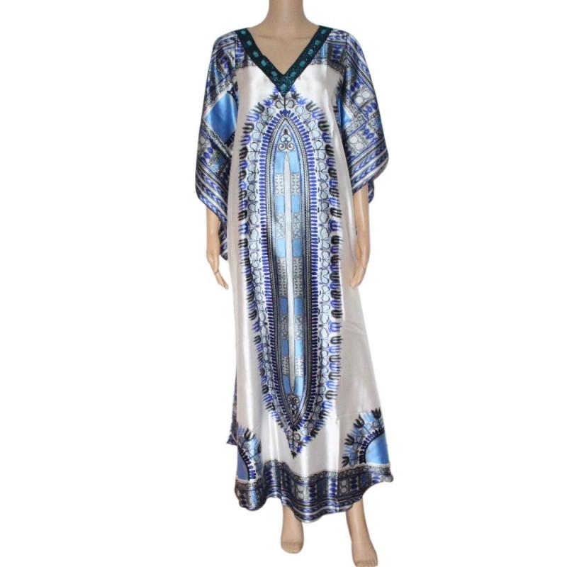 Sparkly Dashiki Print Women Dress African Traditional Dashiki Print