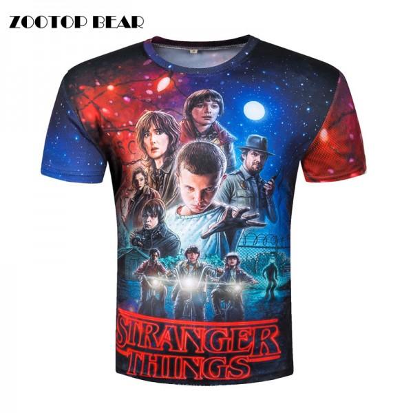 Stranger Things T-shirts Men Tops Movie T shirt Funny Camisetas 2017 Short Sleeve Round Neck Harajuku Top Summer Tee ZOOTOP BEAR