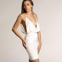Summer Dress 2017 New Women Sexy Elegant Velvet Sheath Spaghetti Strap Deep V Neck Backless Evening Celebrity Party Dresses