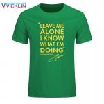 Summer Fashion KIMI RAIKKONEN t shirt men Leave Me Alone I Know Letter Print Hip Hop T-Shirt O Neck Cotton Mens  tshirt