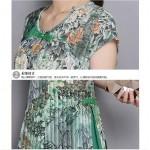 Summer New Arrivals Women Long Dresses Short Sleeve Print Cotton Linen Irregular Patchwork A-line Casual Fashion Dress 2016