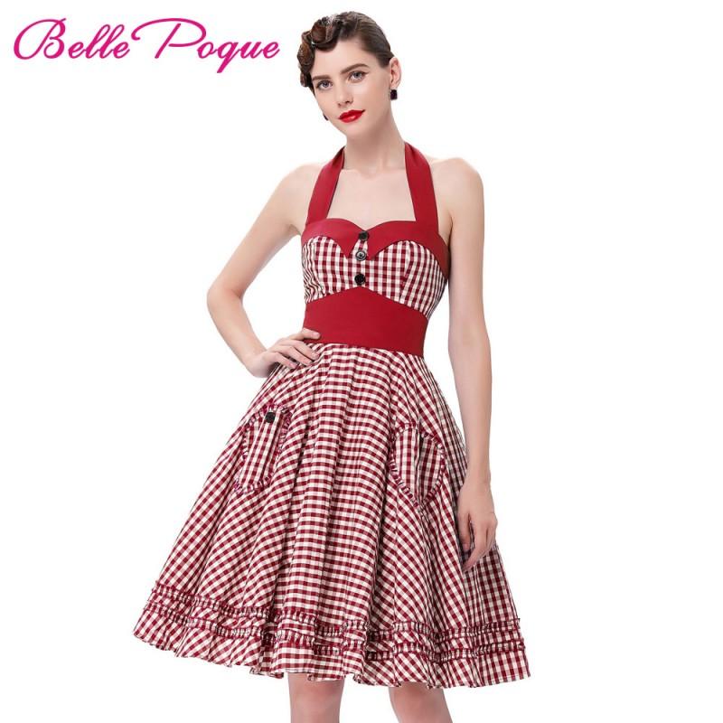 Summer Style Women Dress 2016 Plus Size Audrey Hepburn Gowns Plaid ...