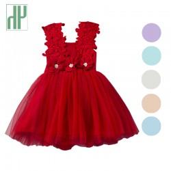 Summer flower girls dresses elegant Party wedding dress children vintage dresses kids vintage clothing infant gown princess