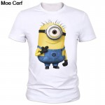 Summer men's cartoon printed T-shirt round neck T-shirt modal fashion factory outlets can be customized sponge Bob T-shirt 2-15#