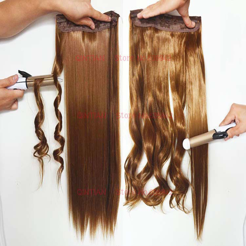 Synthetic Hair Clip In Hair Extensions For Braids 5clips One Piece
