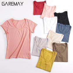 T-shirts For Women 2017 Summer Top Female White Tee Shirt Femme Short Sleeve V Neck Tshirt Women Best Friends T Shirt GAREMAY