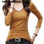 THENANBURONE Basic T Shirt Women Long Sleeve Womens Tops 2017 Spring Autumn Tee Shirt Femme New Fashion T-Shirt Cotton Tshirt